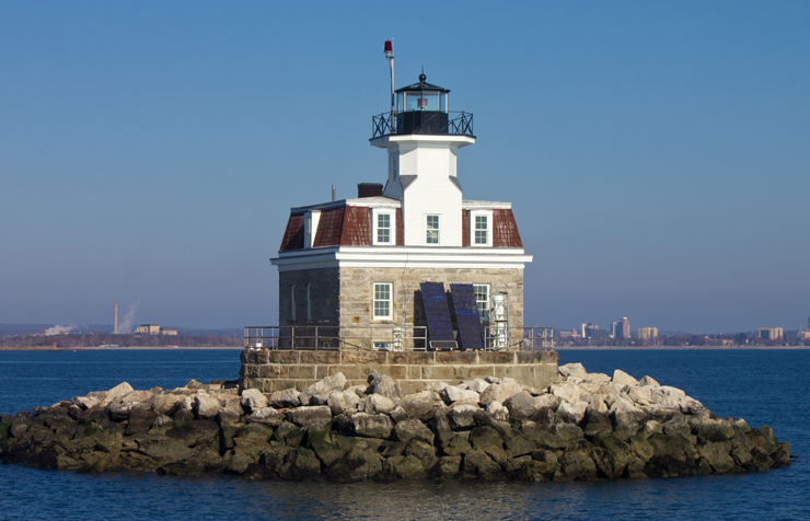 Historic Penfield Reef Light, Offshore in Fairfield, Connecticut